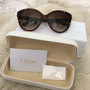 Chloe Cat Eye Havana Brown Gradient Sunglasses